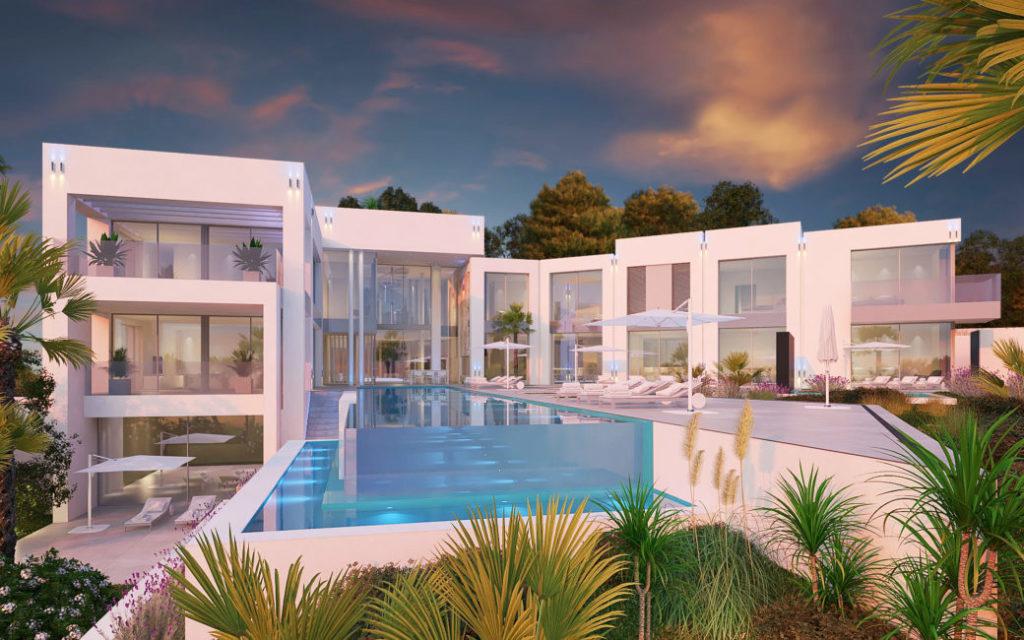 Immo des Monats Dez 20 - Traumvilla in Sol de Mallorca - Frontansicht