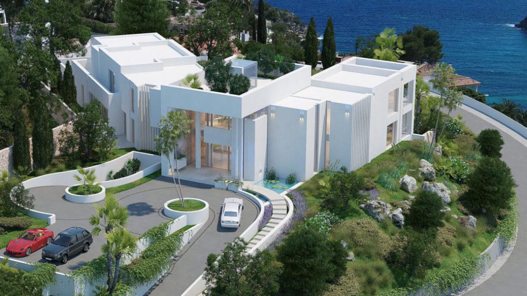 Immo des Monats Dez 20 - Traumvilla in Sol de Mallorca - Vogelperspektive 2