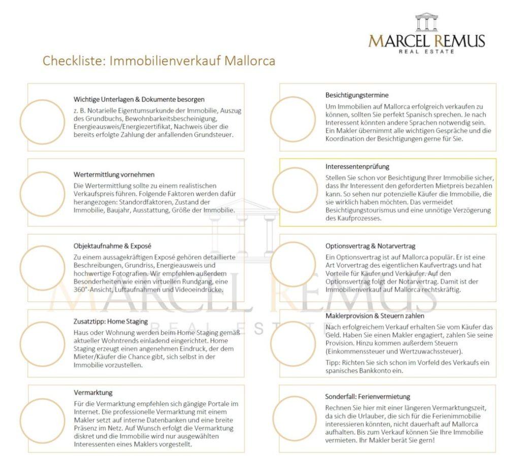 Checkliste für den Immobilienverkauf auf Mallorca: Das müssen Sie beachten